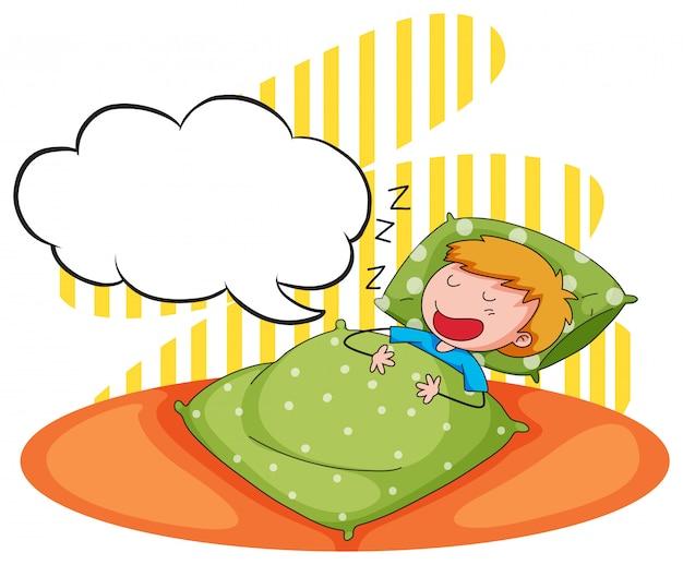 Niño durmiendo y roncando Vector Premium