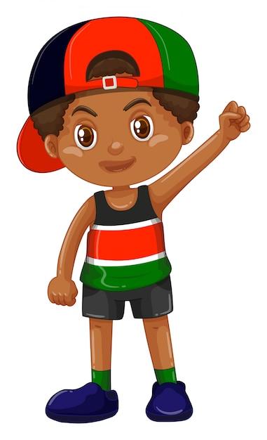 códigos de cupón guapo gran descuento Niño con gorra al revés | Descargar Vectores Premium