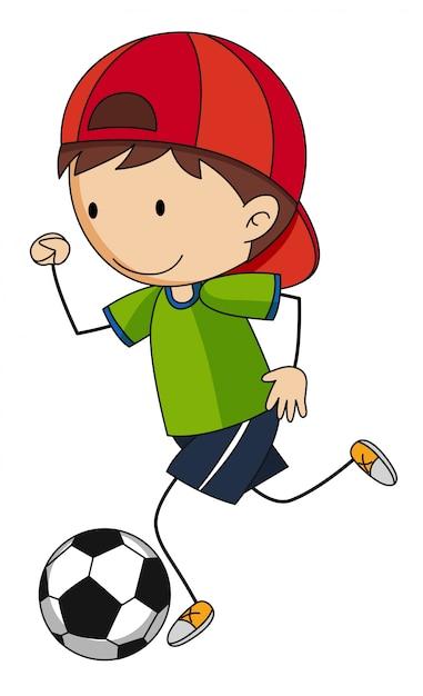 Nino Jugando Al Futbol Descargar Vectores Gratis