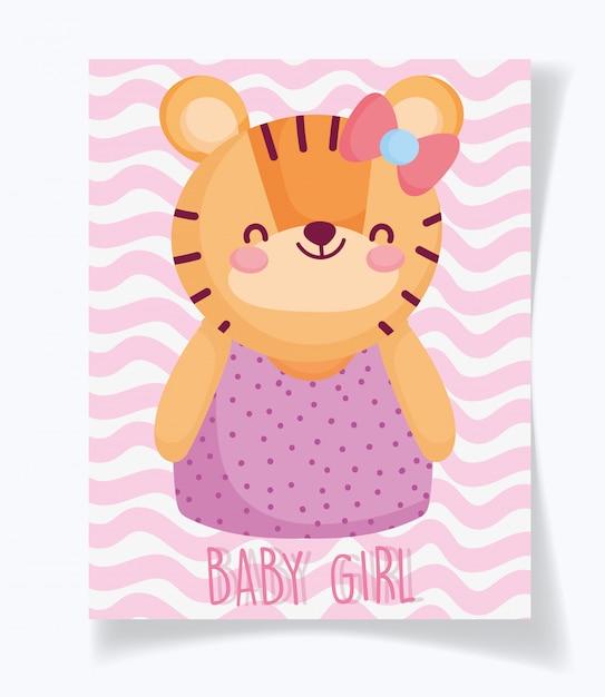 Niño o niña, el género revela que es una tarjeta de niña tigre cyte Vector Premium