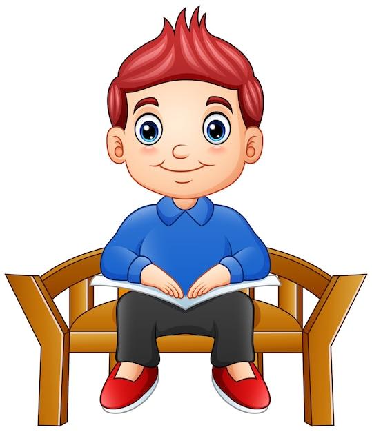 dibujo niño bien sentado silla