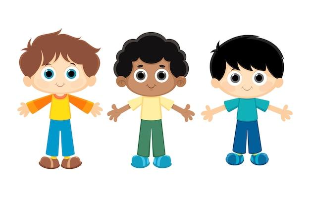 Niños De Dibujos Animados