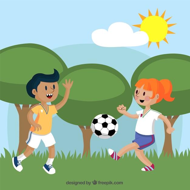 Ninos Jugando Futbol | Fotos y Vectores gratis