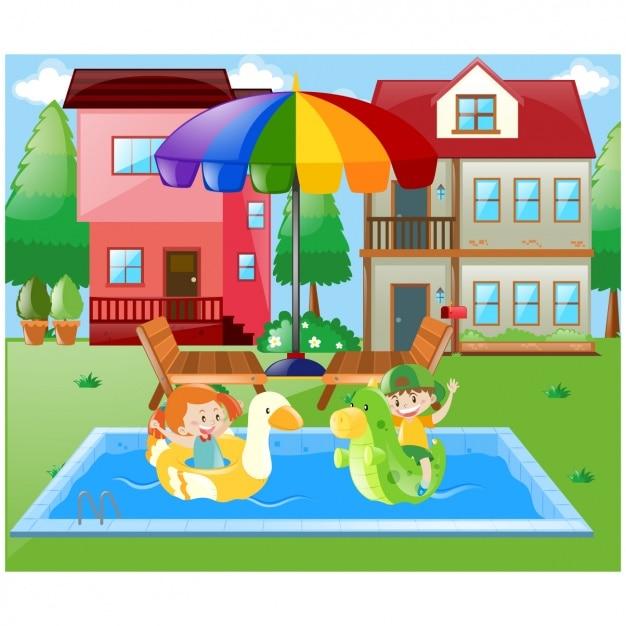 Chica con paraguas fotos y vectores gratis for Fotos follando en la piscina