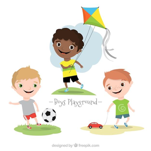 Niños en parque infantil | Descargar Vectores gratis