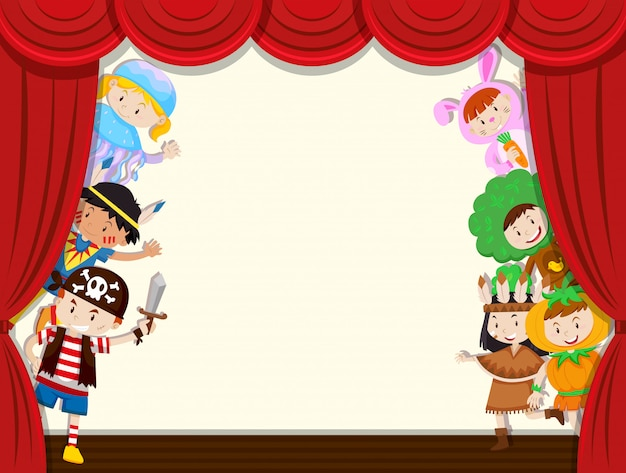 Los niños revelan el rendimiento escolar de la cortina Vector Premium