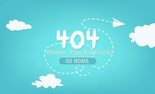 No se encontró la página 404 de rotura vector gratuito