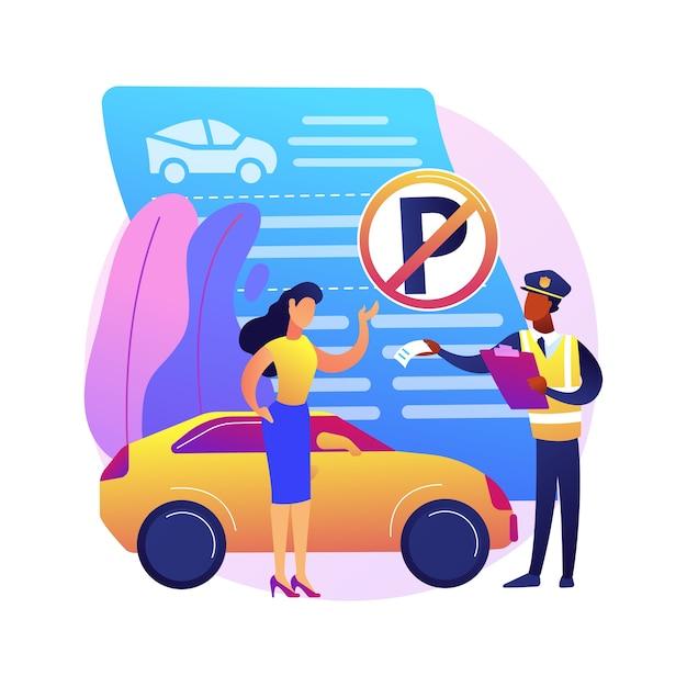 No hay ilustración de zona de estacionamiento vector gratuito