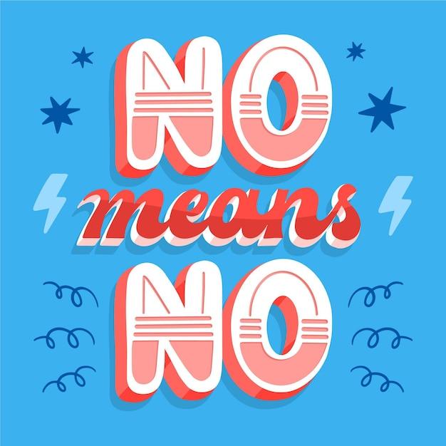No significa que no hay letras vector gratuito