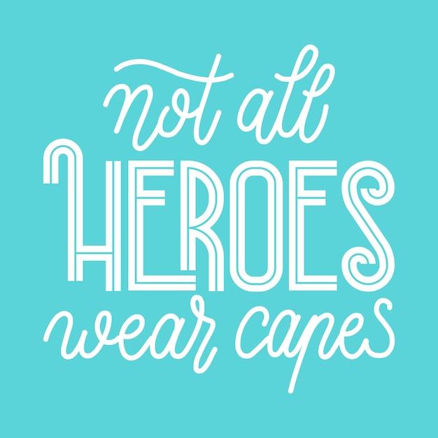 No todos los héroes usan capa vector gratuito