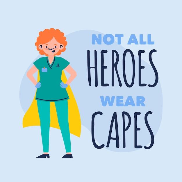 No todos los héroes usan capas vector gratuito