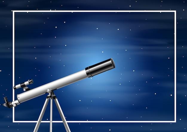 Una noche de fondo de cielo. vector gratuito