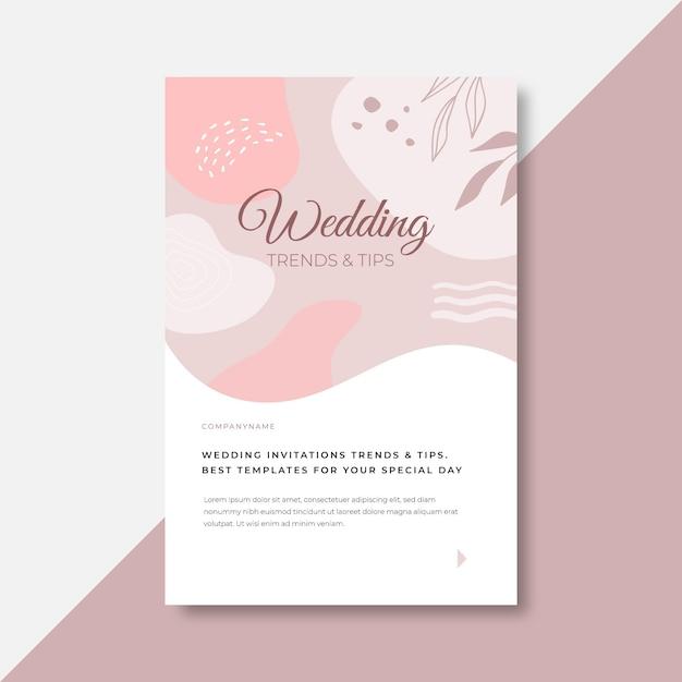 Nos vamos a casar con una invitación de boda floral. vector gratuito