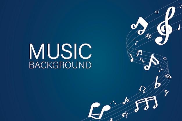Notas musicales de fondo vector gratuito