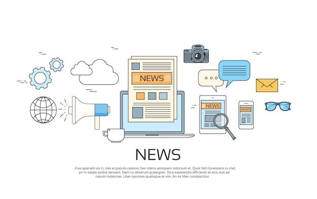Noticias iconos Vector Premium