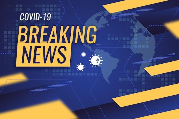 Noticias de última hora sobre el coronavirus - antecedentes Vector Premium