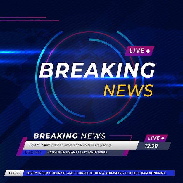 Noticias de última hora en televisión y sitios web en línea Vector Premium