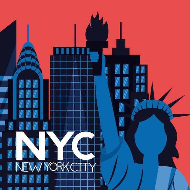 Nueva york vector gratuito