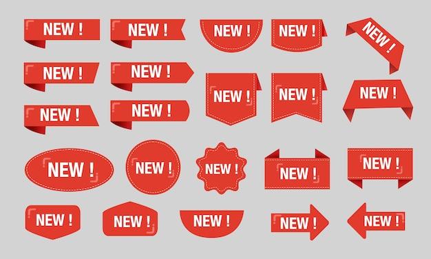 Nuevo conjunto de colección grande de descuento de etiqueta roja Vector Premium