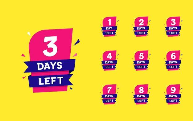 Número de días que quedan cuenta atrás Vector Premium