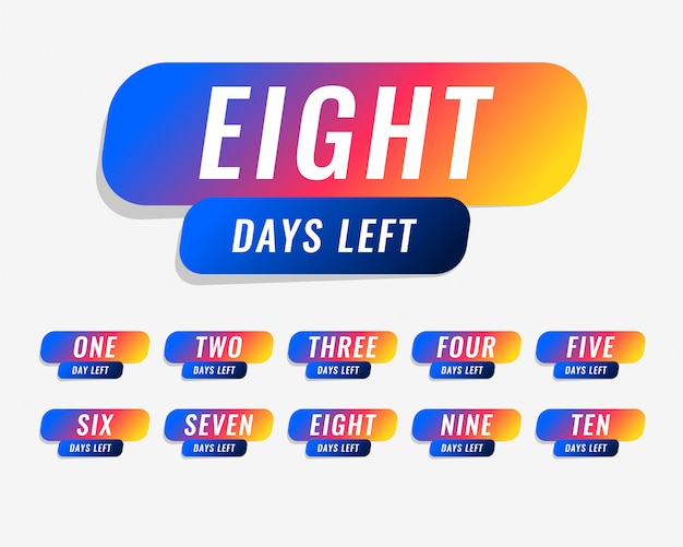 Número de días que quedan de diseño de banner de marketing vector gratuito