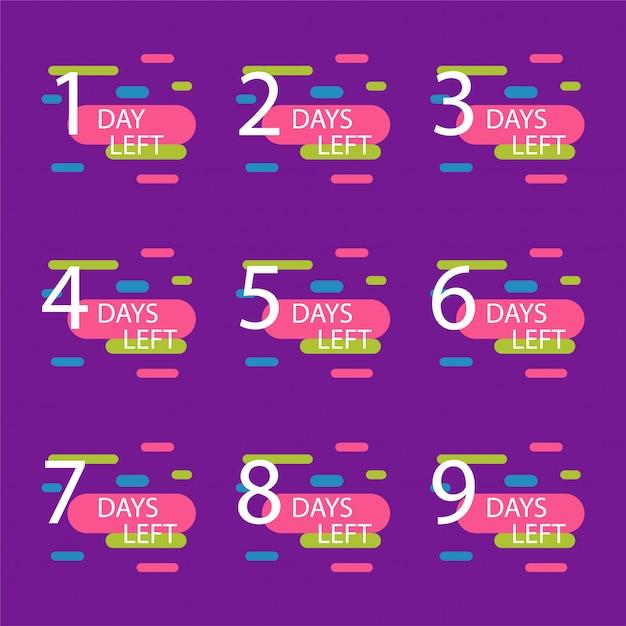 Número de días restantes Vector Premium