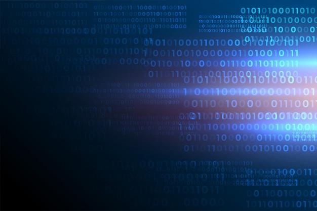 Números de código binario futurista fondo de datos digitales vector gratuito