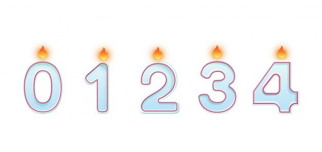 Números de velas Vector Premium