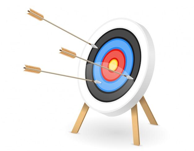 Objetivo para disparar arco de flecha Vector Premium