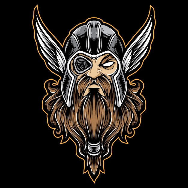 Odin vector logo Vector Premium