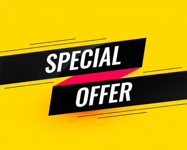 Oferta especial plantilla de banner de venta moderna vector gratuito