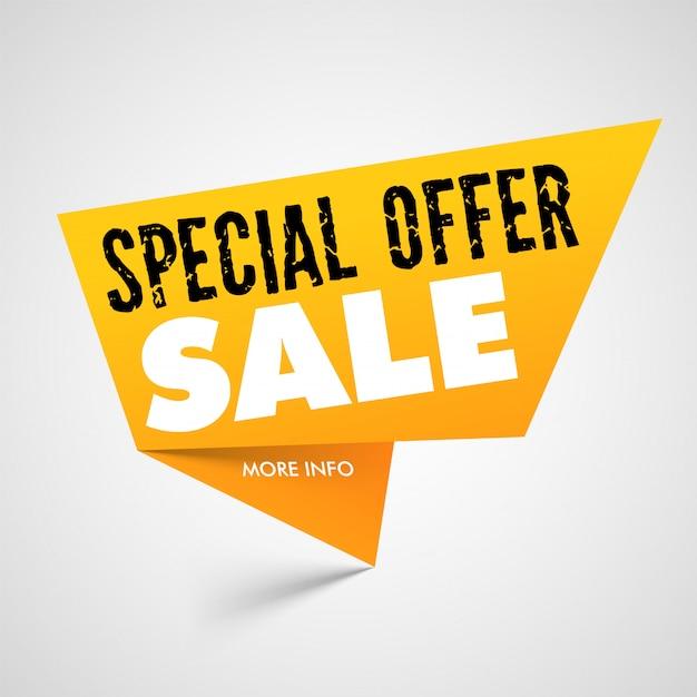 Oferta especial venta banner Vector Premium