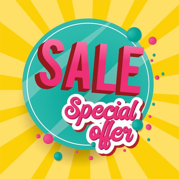 Oferta especial venta cartel vector gratuito