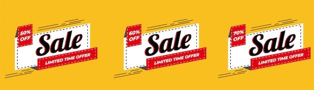 Oferta especial de venta y diseño de etiquetas de precios premium vector Vector Premium