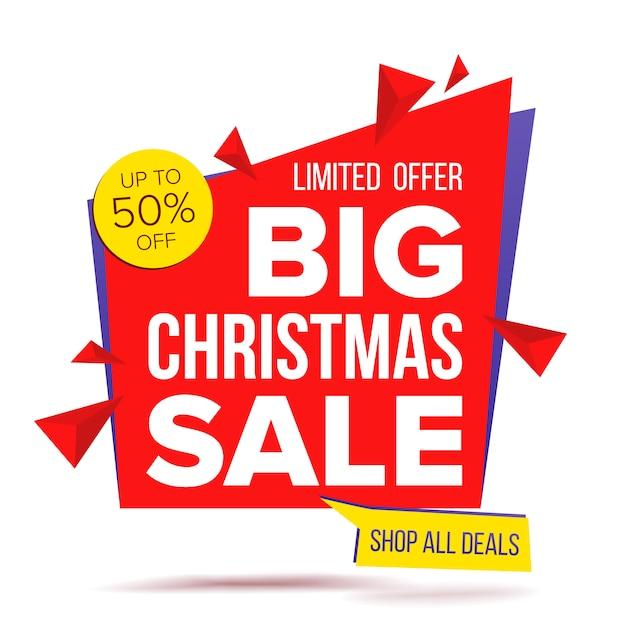 Oferta de navidad oferta especial banner Vector Premium