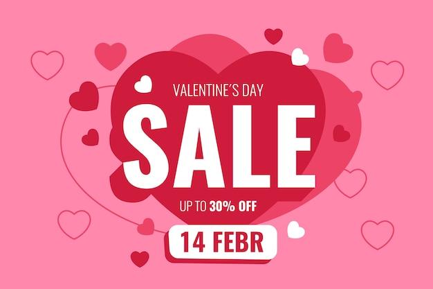 Oferta de oferta romántica de san valentín vector gratuito