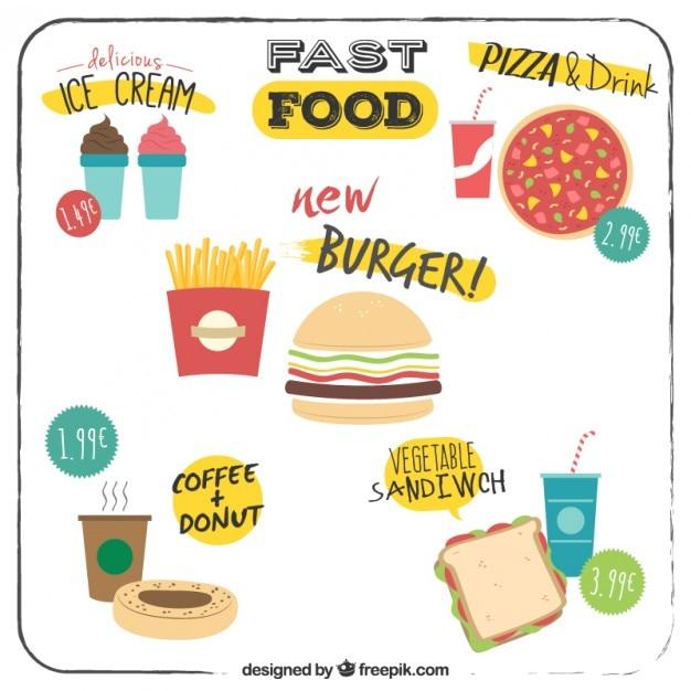Ofertas de men de comida r pida plana descargar for Una comida rapida