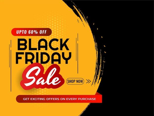 Ofertas de venta de viernes negro y oferta de fondo moderno. vector gratuito