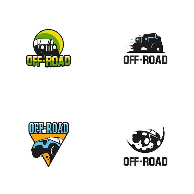 Off road logo plantilla de diseño Vector Premium