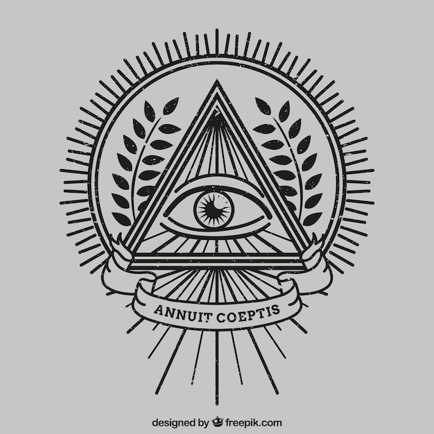 ojo dentro de un tri u00e1ngulo