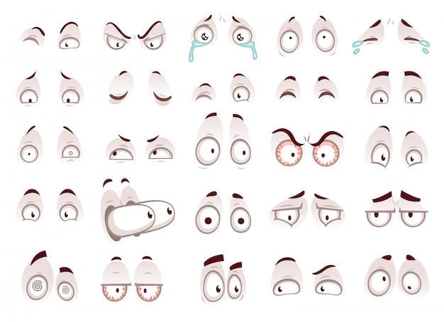 Ojos de dibujos animados Vector Premium