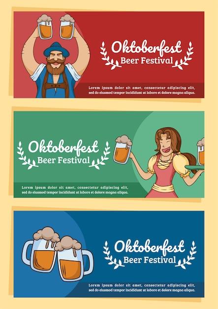 Oktoberfest beer festival plantilla Vector Premium