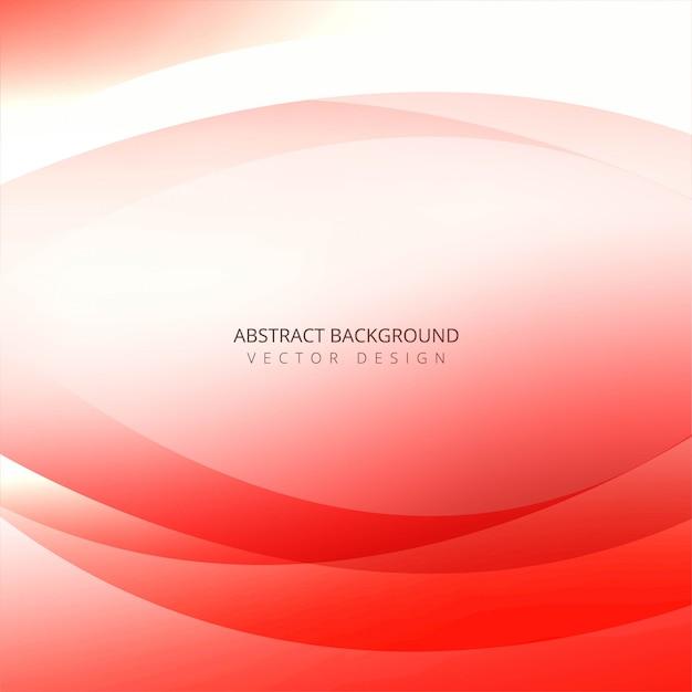 Onda creativa colorida abstracta en el fondo blanco Vector Premium