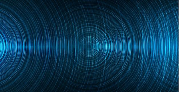 Onda de sonido digital, fondo de tecnología de velocidad Vector Premium