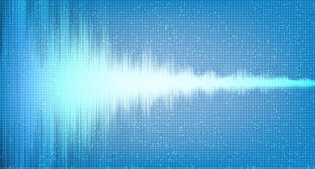 Onda de sonido digital de luz Vector Premium