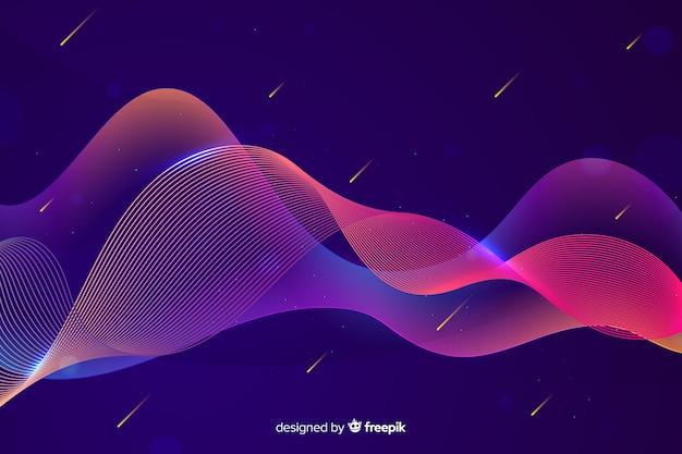 Ondas coloridas de gradiente infografía vector gratuito