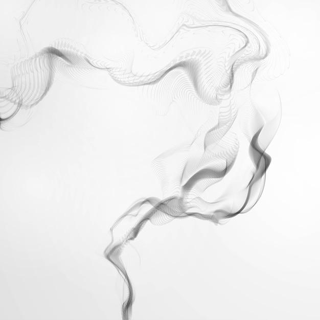 Ondas de humo de cigarrillo Vector Premium