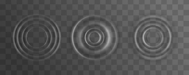 Ondulación, salpicadura de la superficie de la ola de agua de una gota. Vector Premium