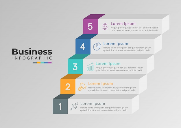 Opción de escala de tiempo 5 de infografía Vector Premium