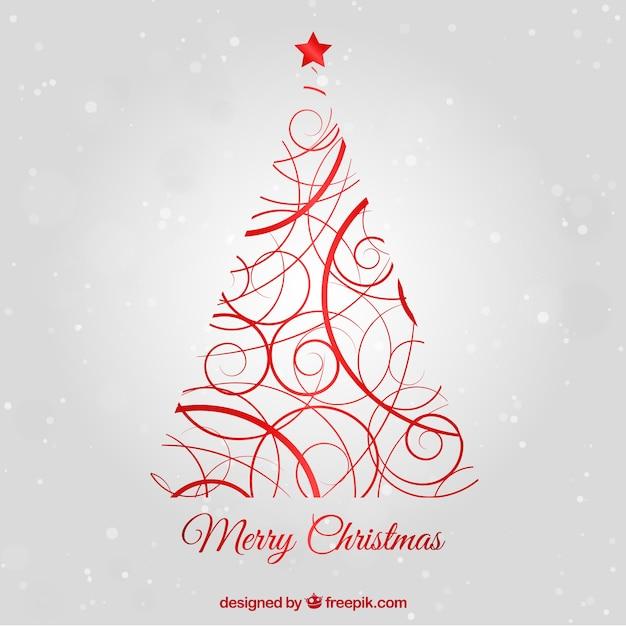 Ornamental Arbol De Navidad De Color Rojo Descargar Vectores Gratis